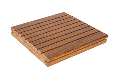 Light Strand Woven Bamboo Flooring with Small Groove Style
