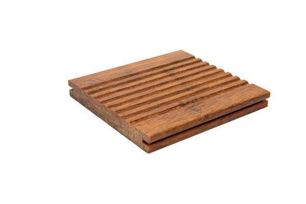Light Strand Woven Bamboo Flooring  with Wave Style